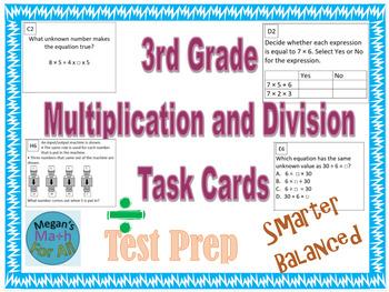3rd Grade Module 3 Multiplication/Division Task Cards for
