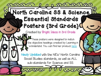 3rd Grade NC Science & Social Studies Objectives {Melonhea