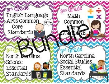 3rd Grade NC Standards Bundle