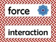 3rd Grade NGSS Science Vocabulary Cards: Forces and Interactions