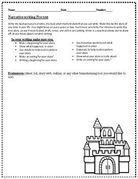 3rd Grade, Narrative Writing Pre-test