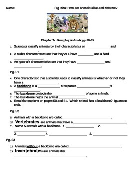 3rd Grade National Geographic science printable