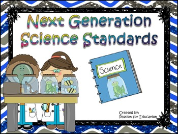 """Next Generation Science Standards """"I Can"""" Statements 3rd /"""