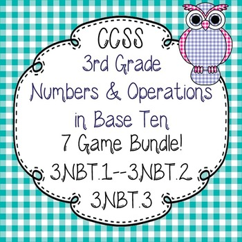 3rd Grade Numbers in Base Ten Activity Pack-3.NBT.1--3.NBT