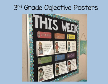 3rd Grade Objective Posters