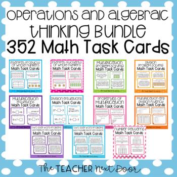 Operations and Algebraic Thinking Task Card Bundle 3rd Grade
