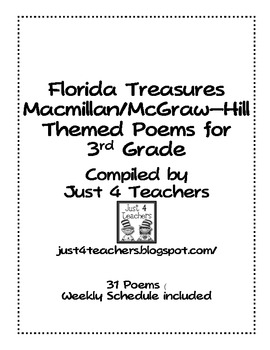 3rd Grade Poetry Journal-Correlates with Treasures (Nation