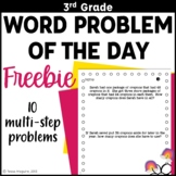3rd Grade Problem of the Day Story Problems- Back to Schoo