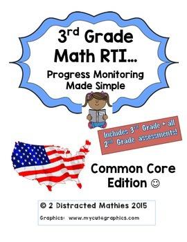 3rd Grade Progress Monitoring Pack:  Common Core Edition