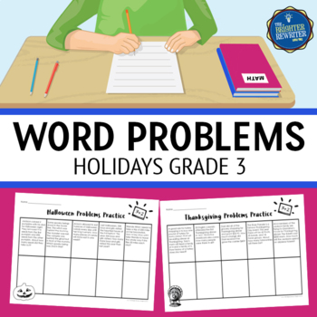 Word Problems 3rd Grade Holidays