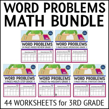 3rd Grade Word Problems Bundle