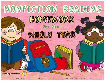 3rd Grade Reading Homework for the YEAR - Nonfiction, Info