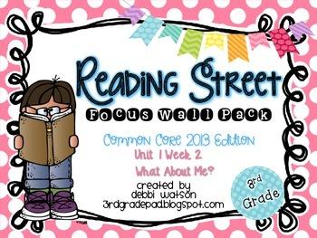 Reading Street 3rd Grade 2013 Focus Wall Posters Unit 1 Week 2