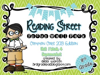 Reading Street 3rd Grade 2013 Focus Wall Posters Unit 1 Week 4
