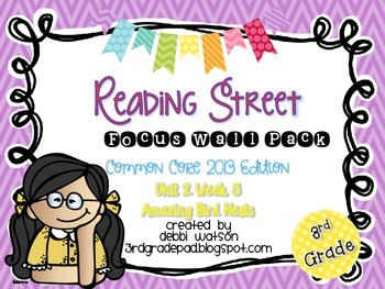 Reading Street 3rd Grade 2013 Focus Wall Posters Unit 2 Wk