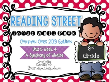 Reading Street 3rd Grade 2013 Focus Wall Posters Unit 3 Wk