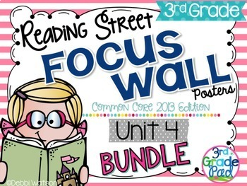 Reading Street 3rd Grade 2013 Focus Wall Posters Unit 4 BUNDLE