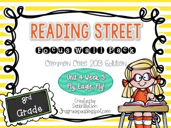 Reading Street 3rd Grade 2013 Focus Wall Posters Unit 4 Wk