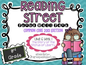 Reading Street 3rd Grade 2013 Focus Wall Posters Unit 6 We