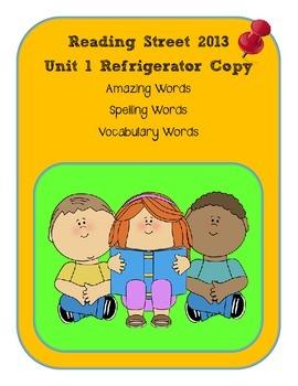 3rd Grade Reading Street 2013 Unit 1 Refrigerator Copy