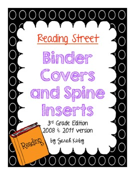 3rd Grade Reading Street Binder Covers and Spine Inserts