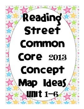 Reading Street Common Core 2013-Concept Map Ideas-Grade 3-