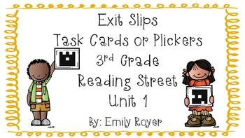 3rd Grade Reading Street Exit Slips-Unit 1