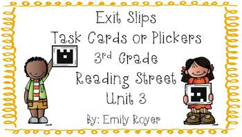 3rd Grade Reading Street Exit Slips (Unit 3)