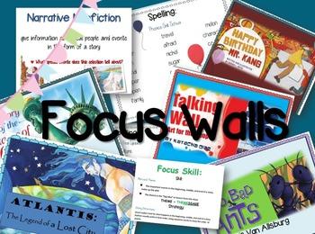 3rd Grade Reading Street Unit 6 Bundle: Focus Walls/ Broch