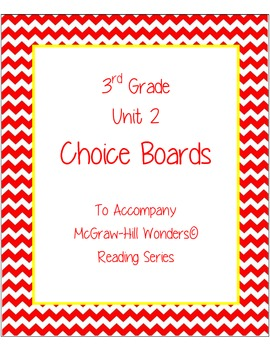 3rd Grade Reading Wonders Choice Boards for Unit 2