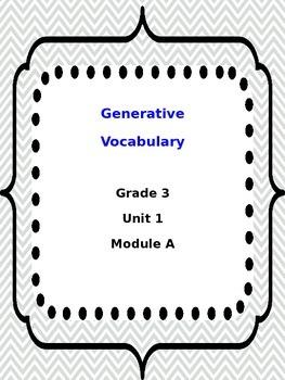 3rd Grade ReadyGen Generative Vocab Unit 1 Mod A