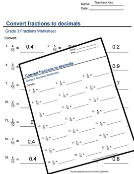3rd Grade Root Sheet