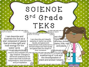 3rd Grade SCIENCE TEKS