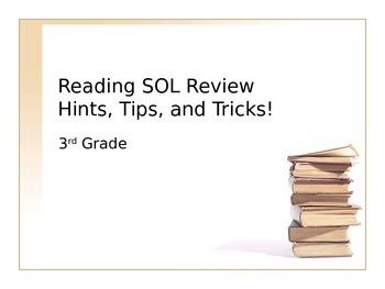 3rd Grade Reading SOL Review