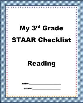 3rd Grade STAAR Reading Checklist