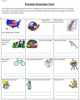 3rd Grade Scavenger Hunt Worksheet