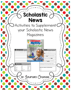 3rd Grade Scholastic News Activities 2016-2017 (GROWING)