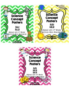 3rd Grade Science Concept Poster Bundle 3.P.1 3.P.2 3.P.3