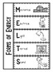 3rd Grade Science Interactive Notebook: Forms of Energy