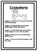 Science Reader's Theater: Ecosystems