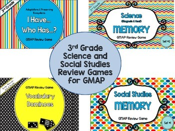 3rd Grade Science & Social Studies Review Games-GA Milestones