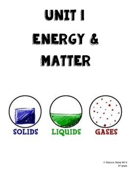 3rd Grade Science Study Guide Energy & Matter