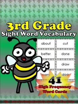 3rd Grade Sight Word Vocabulary - 41 High Frequency Word C