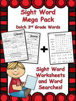3rd Grade Sight Words Mega Pack