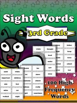 3rd Grade Sight Word List #3 - Third 100 High Frequency Wo