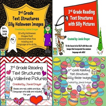 3rd Grade Silly Holiday Images Bundle: Reading and Languag