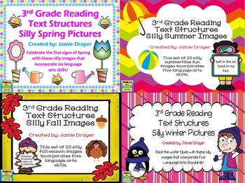3rd Grade Silly Seasons Image Bundle: Reading and Language