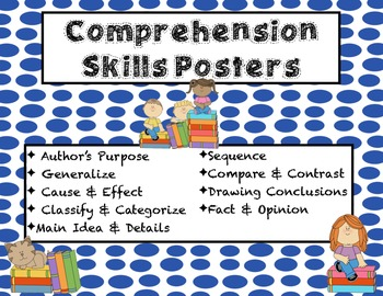 3rd Grade Skills Posters (comprehension)