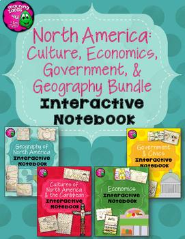 North America Social Studies Interactive Notebook Year-lon