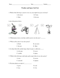 3rd Grade Spaceand Weather Test
